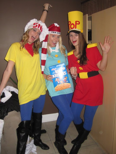 Snap, Crackle and Pop group costume for three